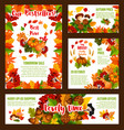 autumn sale price discount shopping posters vector image vector image