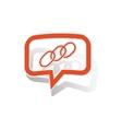Chain message sticker orange vector image vector image