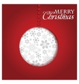 christmas greeting card merry vector image vector image