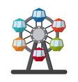 circus wheel icon vector image vector image