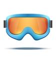 Classic vintage old school blue snowboard ski vector image vector image