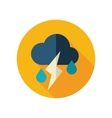 Cloud Rain Lightning flat icon Weather vector image vector image