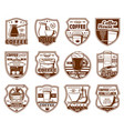 coffee icons cafeteria and cafe drinks signs vector image