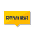 company news price tag vector image vector image