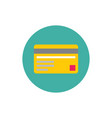 credit card - concept colored icon in flat graphic vector image
