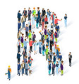 crowded isometric people alphabet vector image vector image