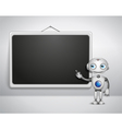 cute robot at the board vector image