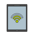 device technology tablet computer wifi internet vector image