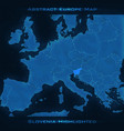 europe abstract map slovenia vector image vector image
