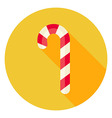 Flat Design Candy Stick Circle Icon vector image