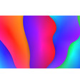 fluid colorful background vector image vector image