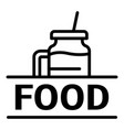 food logo outline style vector image vector image