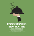 Food Serving Tray Platter vector image vector image