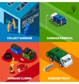 Garbage 2x2 Isometric Design Concept vector image vector image