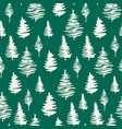 green fir tree seamless pattern for winter vector image vector image