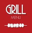 grill menu1 vector image vector image
