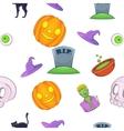 Halloween pattern cartoon style vector image
