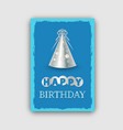 happy birthday banner isolated on grey background vector image vector image