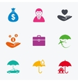 Insurance icons Life Real estate and House vector image