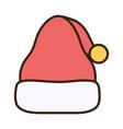 merry christmas celebration hat santa vector image vector image