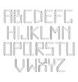metal designer alphabet vector image vector image