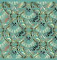 ornate gold baroque 3d seamless pattern damask vector image