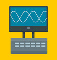 oscillation device icon flat style vector image