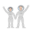 pair of lastronauts vector image