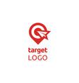 paper plane target board gps pin map logo vector image