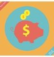 Piggy bank - saving money icon - vector image vector image