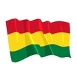 political waving flag of bolivia vector image vector image