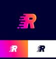 r letter winds movement dynamic logo velocity deli vector image vector image