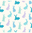 rabbits silhouettes seamless pattern vector image vector image