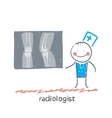 Radiologist with X-ray images vector image vector image