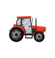 red wheeled tractor isolated icon vector image