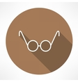 round glasses icon vector image