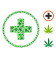 rounded plus composition of cannabis vector image vector image