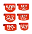 Sale tags labels Special offer hot sale special vector image vector image