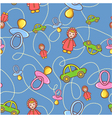 Seamless children background vector image vector image