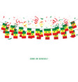 senegal garland flag with confetti vector image vector image