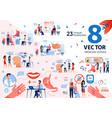senior people healthcare flat scenes set vector image vector image
