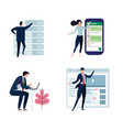 set of business people or office workers man and vector image vector image