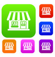 shop set collection vector image vector image