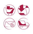 shopping e-commerce beautiful icons set vector image