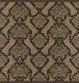 snake skin colorful animal beige seamless pattern vector image