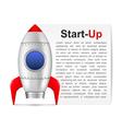 Start-Up Banner vector image vector image