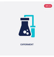 two color experiment icon from chemistry concept vector image