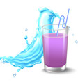 water splashes in blue colors around a transparent vector image vector image
