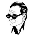 what hand drawn sad old man vector image