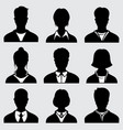 woman and man head silhouettes anonymous person vector image vector image